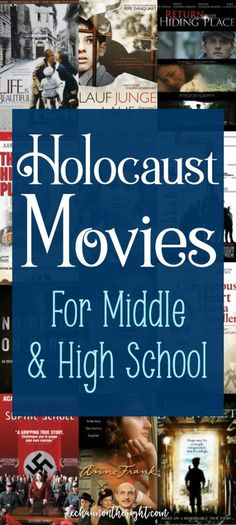 The Holocaust was one of the worst times in history and is a tough subject to teach. Here is a list of Holocaust movies for middle school and high school that are PG-13 or under.