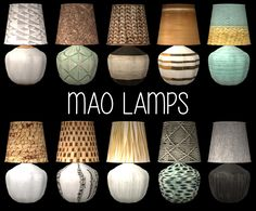 Recolorsof Nanu's Mao lamp. The shades and posts have different subsets. Mesh is included. DOWNLOAD