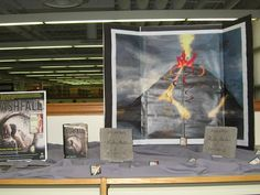 Display at Batavia High School celebrating my visit there. The chunks of concrete are pieces of a block I broke with a palm-heel strike during my presentation.