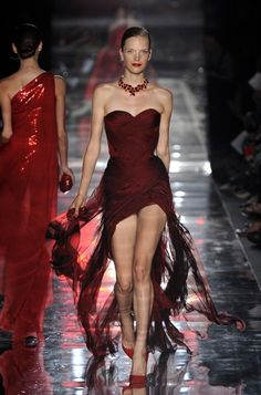"""Alexandre Vauthier Fall Winter 2001-12 Haute Couture Collection """"A Lady in Red"""""""