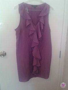 Clotheswap - Grape Glassons Dress Real Women, Size 14, Curves, Ruffle Blouse, Clothes, Tops, Dresses, Fashion, Outfits