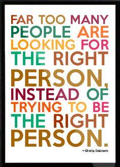 Gloria Steinem Framed Quote