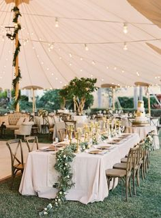 This tent allows your spring or summer wedding to be both inside and outside!