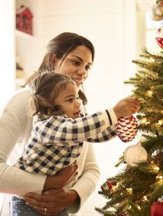 Quick Tip: While decorating, position your tree about 2 feet from a corner or wall, so you can easily access the entire tree as you hang lights and ornaments. #Christmas #holidays #family
