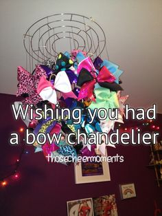 after this weekend.... the sassy cheerleader princess who spent $40 on bows needs this!