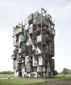 Kunst- en architectuurfotograaf Filip Dujardin (1971), nam het patrimonium van Bokrijk als basismateriaal, om een nieuwe structuur te maken, die zowel het verleden als de toekomst van Bokrijk in zicht draagt.