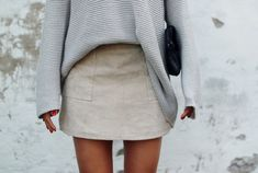 the suede skirt saw a similar one in zara