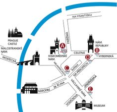 Five great location in Prague Down Town