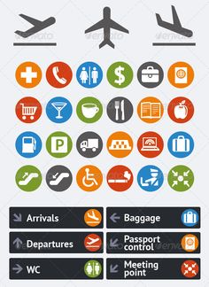 airport icons More