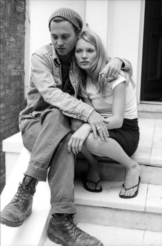 Johnny Depp + Kate Moss #nouvelleco #mode #katemoss #couple