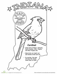 USA Printables State Of Indiana Coloring Pages