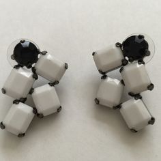 Black/White Statement Earrings Gorgeous cascading black and white earrings. Unknown Accessories