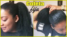 Coleta fija kanekalon crochet / fixed ponytail of kanekalon faux