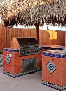 1000 images about bbq area on pinterest outdoor for Mexican outdoor kitchen designs