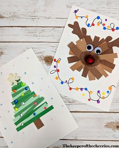 Paper Strips Christmas Crafts - The Keeper of the Cheerios