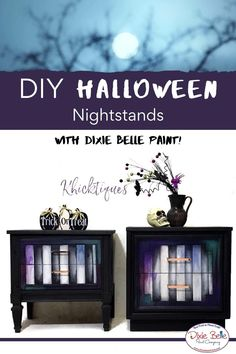 Chalk Paint Furniture, Funky Furniture, Furniture Makeover, Jewel Tone Colors, Jewel Tones, Dixie Belle Paint, Mineral Paint, Bedside Tables, Nightstands