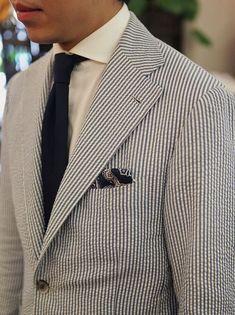 Seersucker Jacket, Best Suits For Men, Ivy Style, Men's Style, Mens Fashion Blog, Men's Fashion, Stylish Mens Outfits, Dapper Men, Jackett