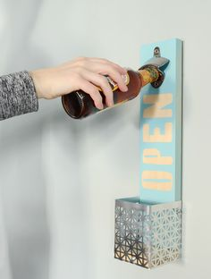DIY: easy wall mounted bottle ppener