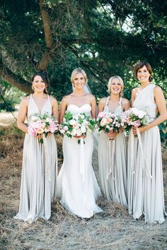 Photographer: Natasja Kremers | Flowers: Natural Art by Rebecca Grace | Wedding Dress and Veil: Pallas Couture | Hair: Naomi Van Haeften | Makeup: Jen Thomas | Bridesmaids' Dresses: Twobirds (Color: Oyster)