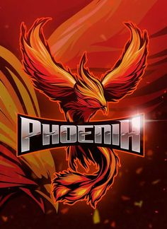 , Phoenix - Mascot & Esport Logo- Suitable for your personal or squad logo, All elements on this template are editable with adobe illustrator! Logo Gaming, Logos Color, Sport Logos, Logos Ideas, Game Logo Design, E Sport, Mascot Design, Retro Logos, Logo Maker