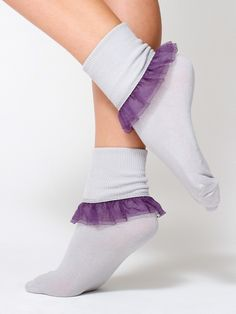 The Girly Lace Ankle Sock comes in 17 colors, perfect for Spring!