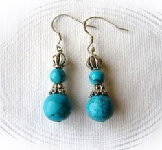 Turquoise Dangling Earrings - Handmade Fashion Jewelry