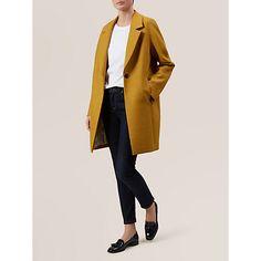 Buy Hobbs Sunny Coat, Sunshine Yellow Online at johnlewis.com