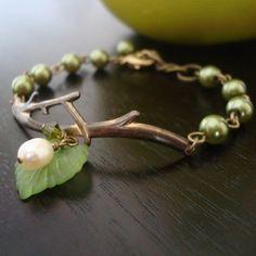 Branch bracelet by Elle Jewels from Ooh, I've Got Something to Show You! blog: September 2009.  A lovely bracelet.  http://oohsome.blogspot.com/2009_09_01_archive.html