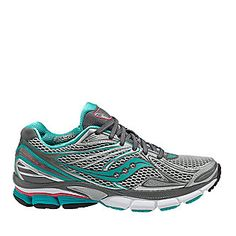 "Saucony ""PowerGrid Hurricane 15"" Running Shoes in Silver/Green. Want these!!! Best runners I've ever had."