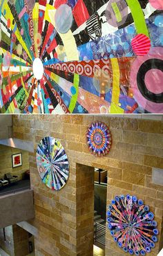 Mandalas made from plastic bags-would do with yr 7-8 - image inspiration: artist Virgina Fleck