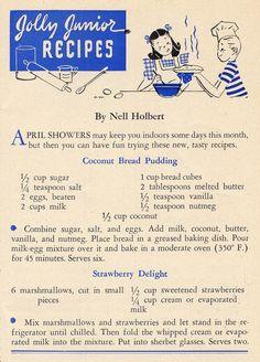 Retro Recipes, Old Recipes, Unique Recipes, Vintage Recipes, Cookbook Recipes, Cooking Recipes, 1950s Recipes, Cooking Ideas, Delicious Recipes
