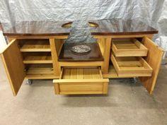 MORGAN design Big Green Egg Table www.PoshPatios.com