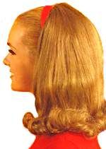 Teen Hair styles 1960s - usually a headband and a flip at the bottom of your shoulder length hair.