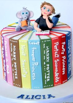 Birthday Book Cake created by Takes the Cake: https://cakesdecor.com/cakes/169749-book-cake