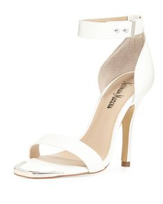 Neiman Marcus leather ankle wrap sandal