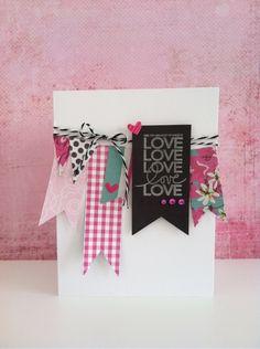 『手作りバレンタインカード』