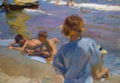 Joaquín Sorollay Bastida. (1863-1923).Niños en la Playa, 1916. Oil on canvas. 27.5 x 39.5 inches (70x100 cm)