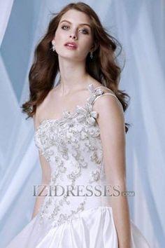 Ball Gown One Shoulder Taffeta Beach Wedding Dresses