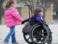 children in wheelchair girl boy best friends Boy Best Friend, Drawing Poses, Girls Pants, Kids And Parenting, Baby Strollers, Kids Outfits, Girl Fashion, Winter Jackets, Children