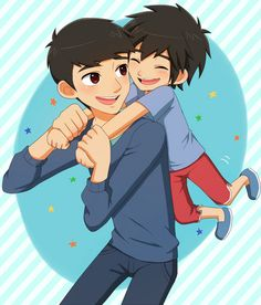 Young Tadashi and Hiro - big-hero-6 Fan Art