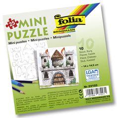 Unsere Mini-Puzzle bestehen aus mehr als 20 Teilen und können selbst bemalt werden. Die Puzzles bestehen aus extra starkem Karton. Mehr unter www.folia.de