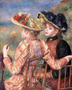 renoir art | Renoir Paintings - Two Girls