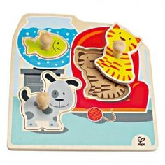 My Pets Knob Puzzle $9.97 This pets wooden knob puzzle by Educo is a fun beginner puzzle perfect for all babies and toddlers. http://www.educationaltoysplanet.com/my-pets-knob-puzzle.html