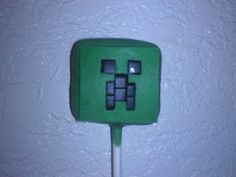 minecraft - creeper cake-pop