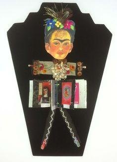 "Saatchi Online Artist Elena Mary Siff; Sculpture, ""Frida Kahlo Doll Book"" #art   SOLD"