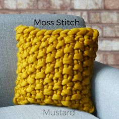 Image result for knitting cushion cover patterns free with super chunky wool