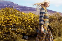 """""""Over the Hills and Far Away"""" Kirsty Hume by Erik Madigan Heck for Harper's Bazaar UK, September 2015"""