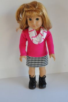 American Girl Doll Clothes Black and White by CircleCSewing