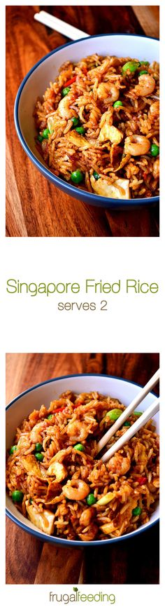 Singapore Fried Rice -  a Chinese takeaway classic, brought to life at home. Ready in a matter of minutes, this spicy rice dish is about as good as comfort food gets.