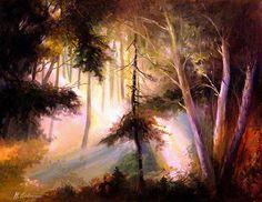 Original Landscape Painting by Mikhail Savchenko Watercolor Mixing, Forest Painting, Impressionism Art, Saatchi Art, Original Paintings, Fine Art, Wall Art, Landscape, Portrait